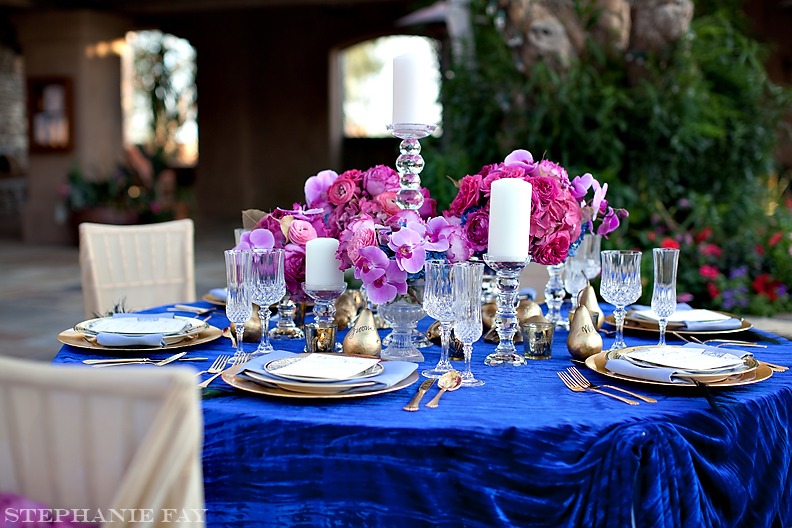 Elegant Wedding Ideas Pink Fuschia Pink Orchid Center Pieces