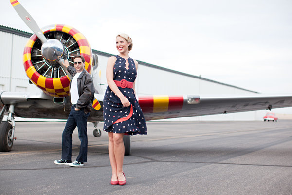 Annee + Scott's Airplane Themed Engagement